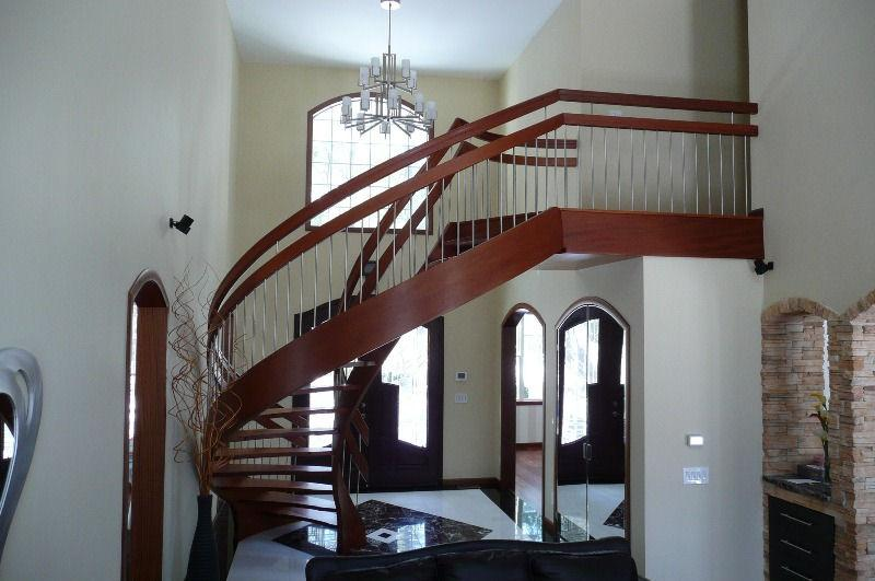 Pictures For Unique Spiral Stairs In Albion Me 04910