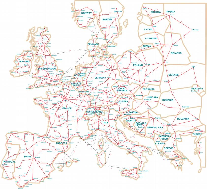 Auto Map of Europe Gallery For Auto Europe