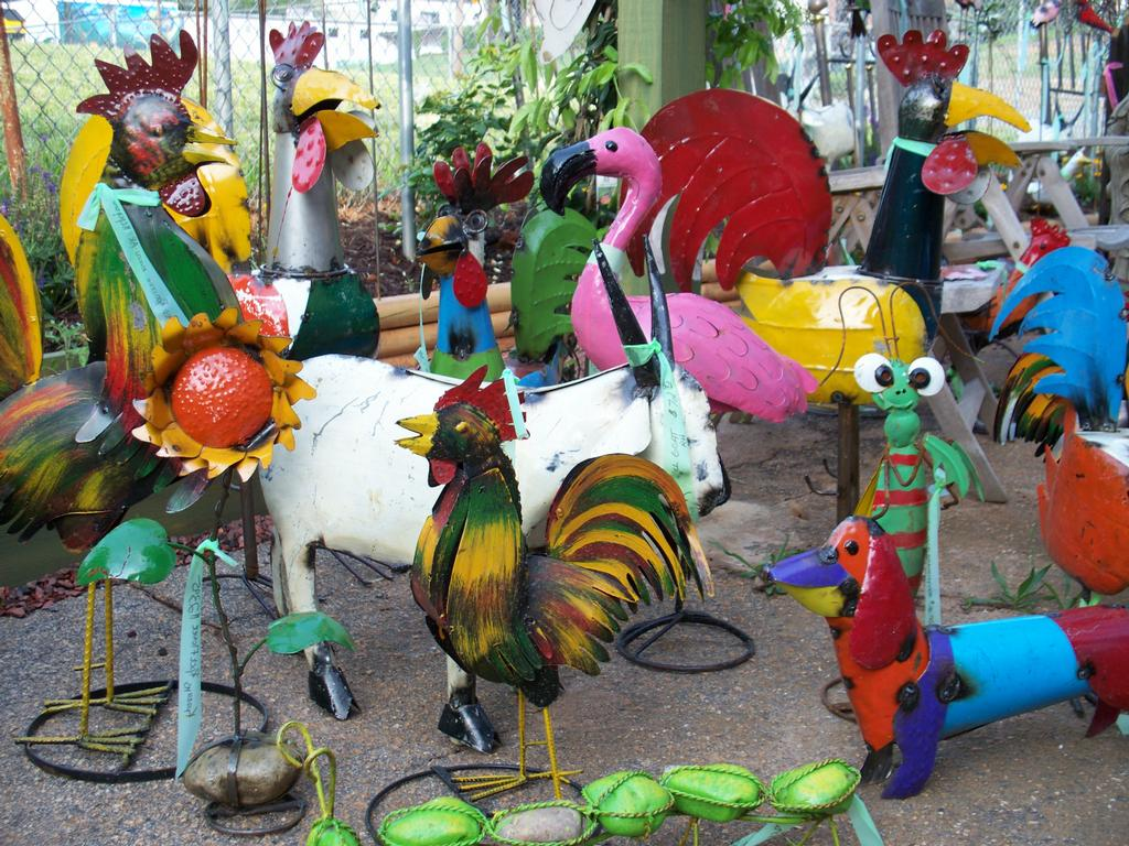 Photo Wholesale Recycled Metal Art Rooster