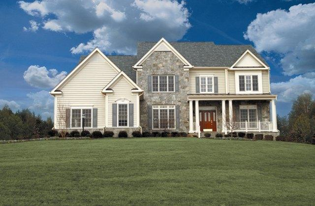 Front Elevation Stone : The preston stone front elevation g from equity homes