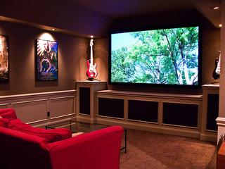 interiors furniture & design: media rooms in basements