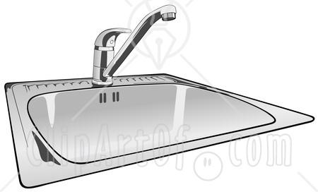 51414-Royalty-Free-RF-Clipart-Illustration-Of-A-Shiny-New-Kitchen-Sink.jpg