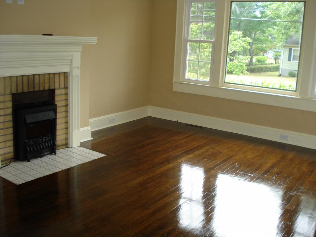 Hardwood floor refinish trim paint from room for Best paint for wooden floors