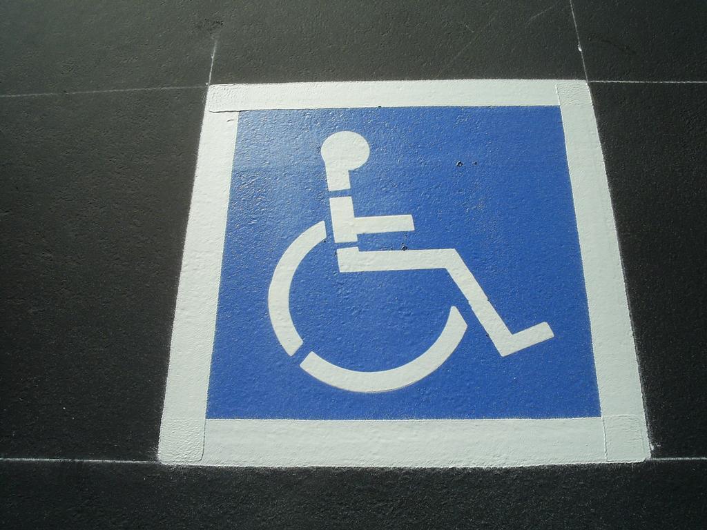Handicap Symbol From American River Striping In Sacramento