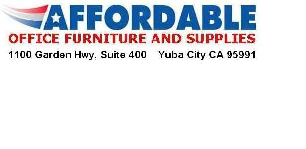Affordable office furniture supplies yuba city ca for Affordable furniture logo