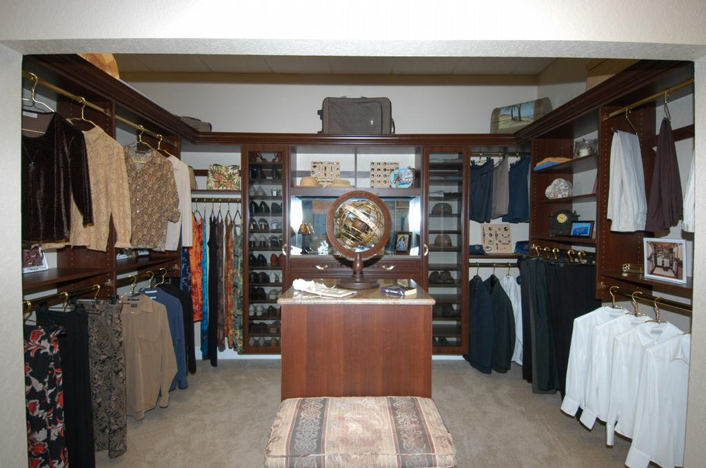 Master Closet Photo In Cayenne Maple From Artistic Closets