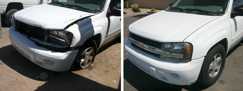 Chevy Dealers Phoenix Az chevy before-after.jpg from A CHEAP BODY SHOP in Scottsdale, AZ 85260