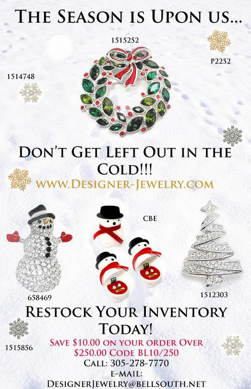 Christmas-Flyer by Designer-Jewelry, Wholesale Jewelry for Resale