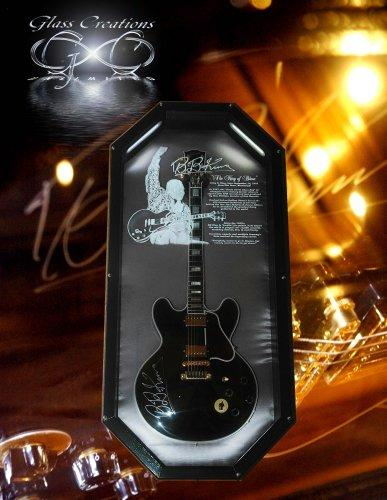 bb king guitar case glass creations unlimited in dallas tx 75244. Black Bedroom Furniture Sets. Home Design Ideas