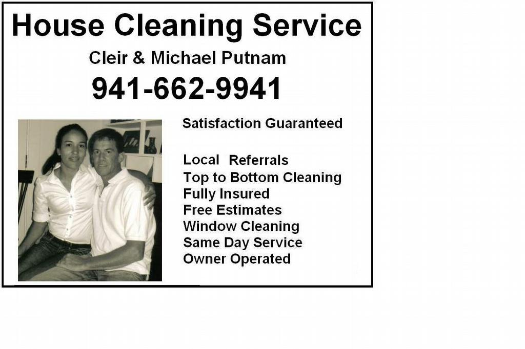 Cleir & Mike's Ad from Michael Putnam Cleaning Service in Venice ...