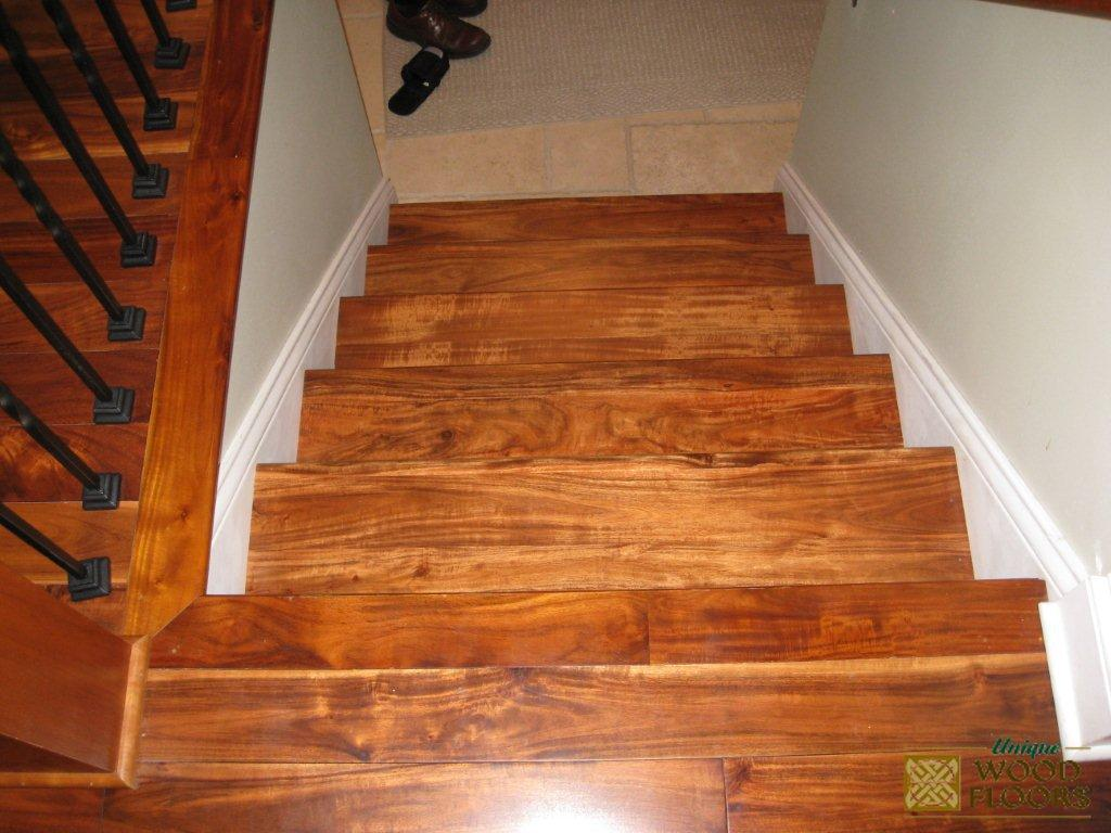 Acacia Stair7 by Unique Wood Floors
