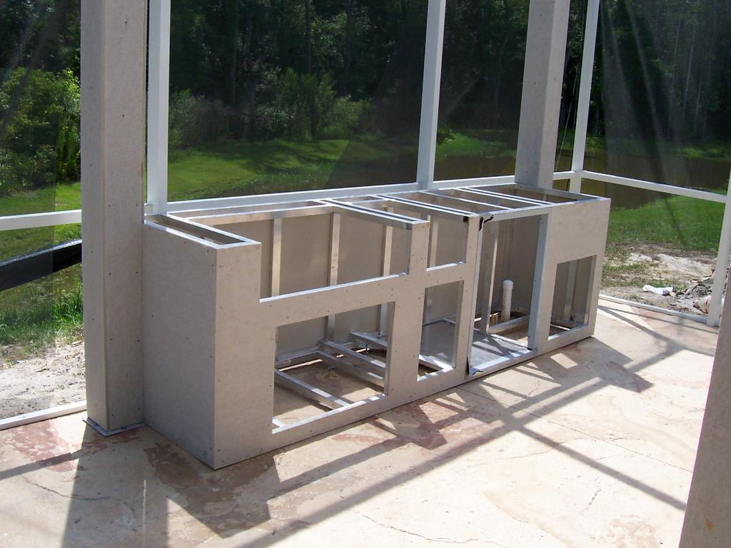 frame and backer from louisiana outdoor kitchens of austin in round