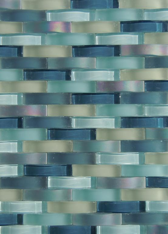 blue green glass tile backsplashes