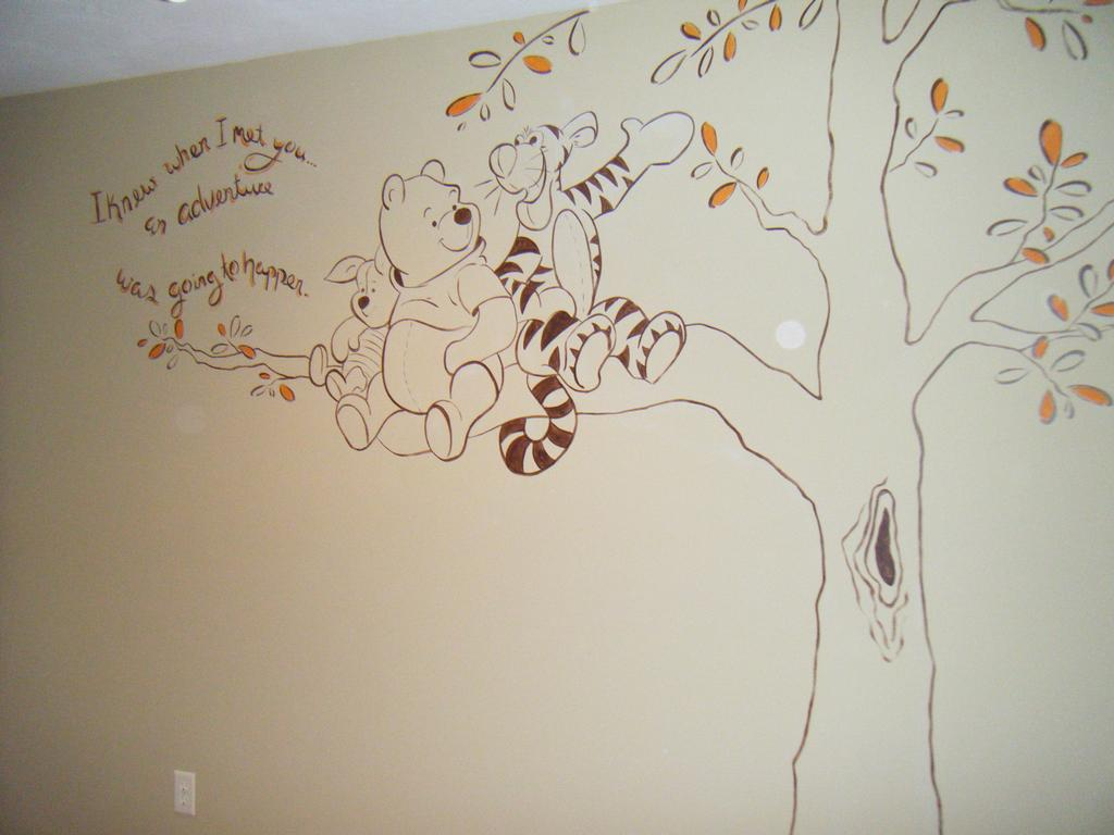 Winnie the pooh wall murals for Classic pooh wall mural