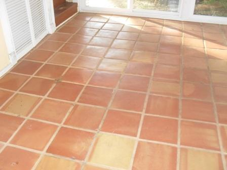 Stained Grout And Unsealed Mexican Saltillo Tile