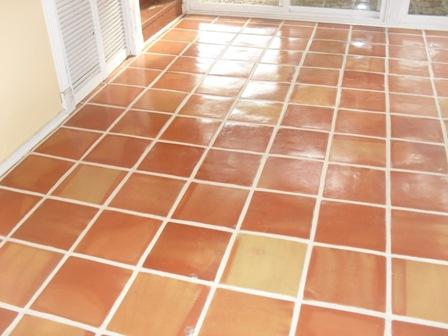 Saltillo Mexican Tile Cleaned and Sealed