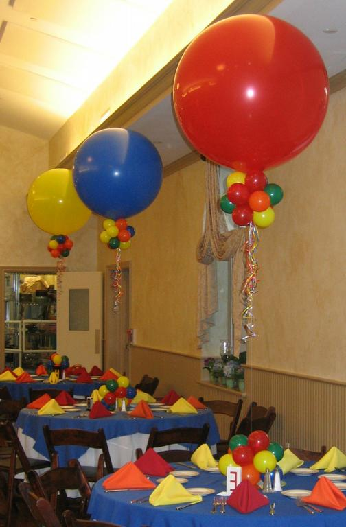 3 foot balloon centerpieces from Elegant Balloons LLC in Pearl