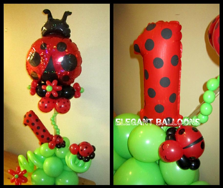 lady bug balloon centerpiece from Elegant Balloons LLC in Pearl