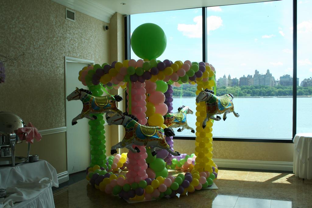 carousel balloon sculpture from elegant balloons llc in