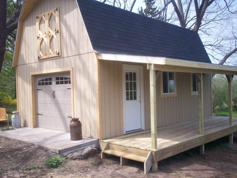 Mark cus shed with screened porch for Shed with porch and loft