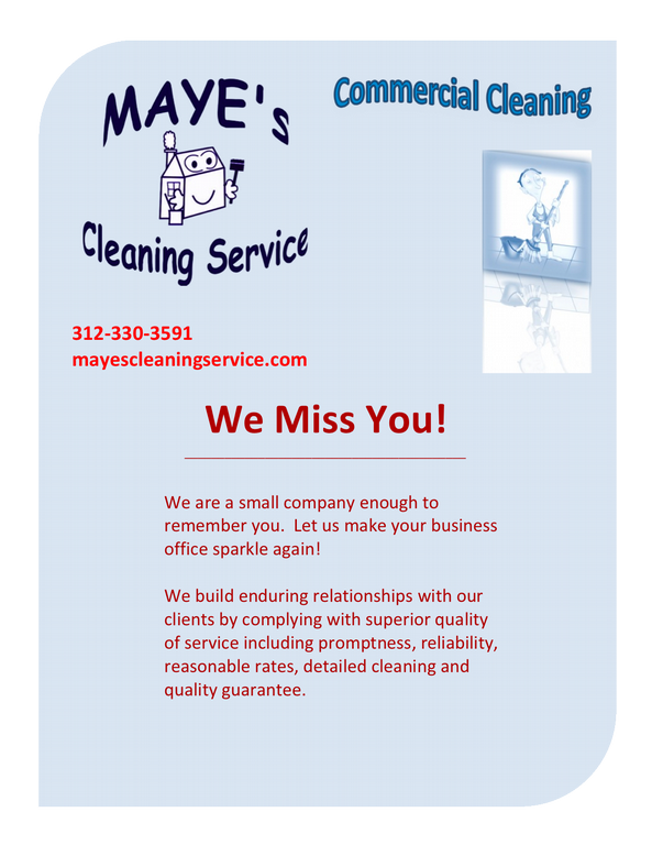 commercial cleaning quote sample