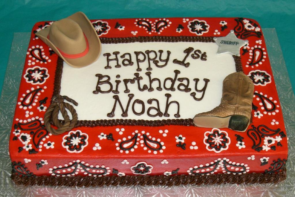 Cowboy Rope Birthday Cake