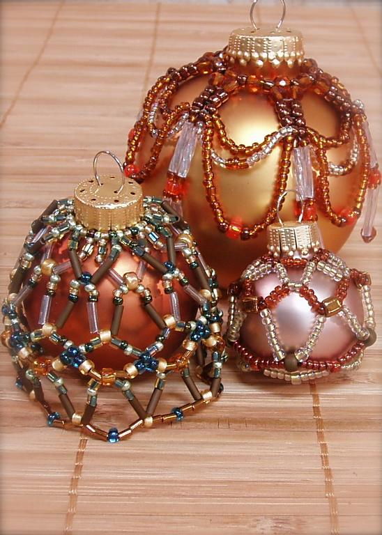 beaded christmas ornaments | eBay.