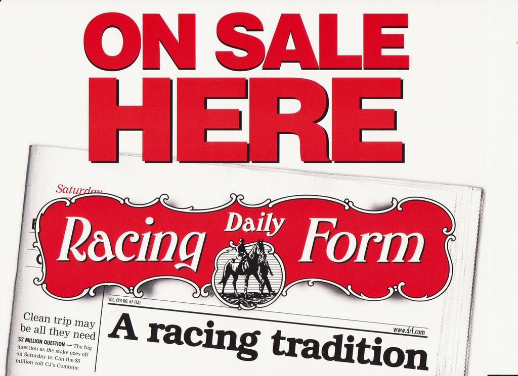 Daily Racing Form From Andrews Newsstand In Fort Worth Tx