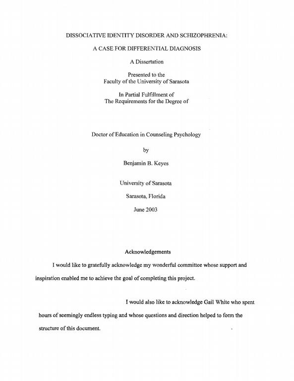 Acknowledgements Thesis Phd Phd Thesis to Compare With
