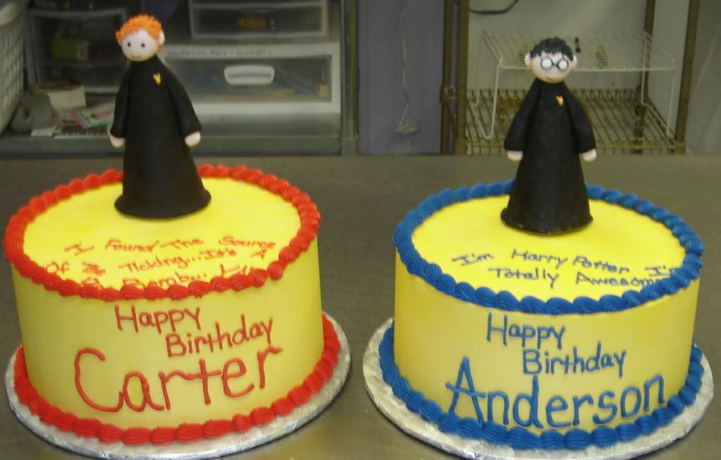 Unique Potter Puppet Pals Sugar Figures Butter Cream Birthday Cakes For 9 Year Old Twin Boys
