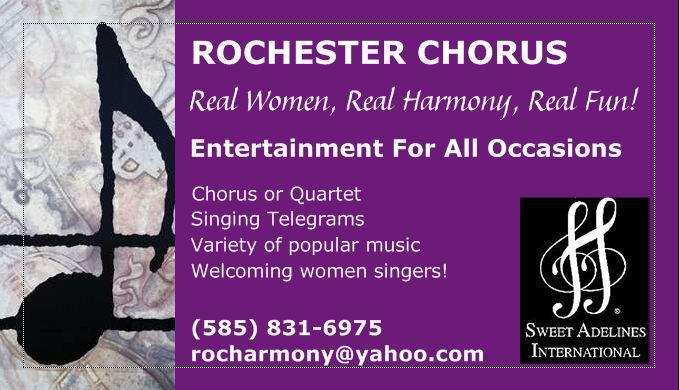 Rochester Chorus Sweet Adelines Rochester Ny 14613 585