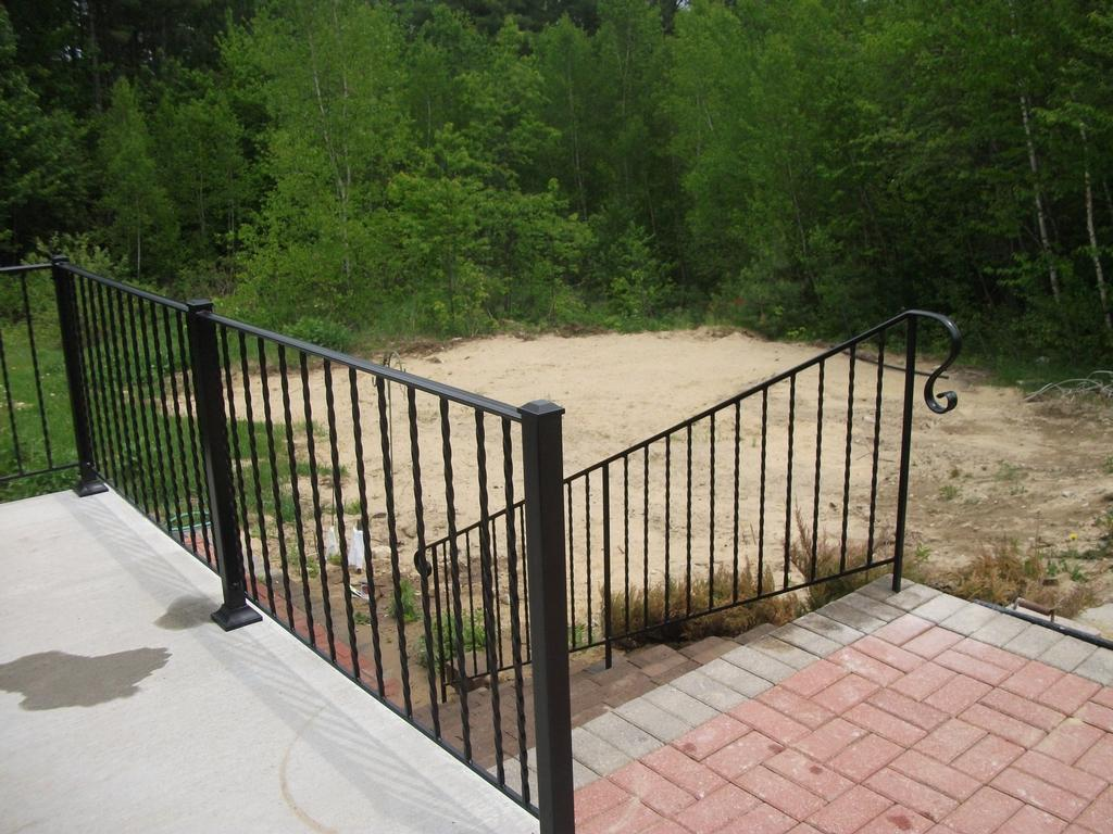 Wrought Iron Railings Installed From Mainely Handrails In
