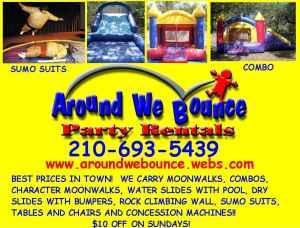 around we bounce party rentals san antonio tx 78245 210 693 5439