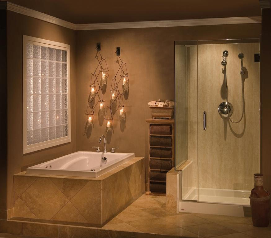 Crema Travertine Tub and Shower from Re-Bath of Jacksonville in
