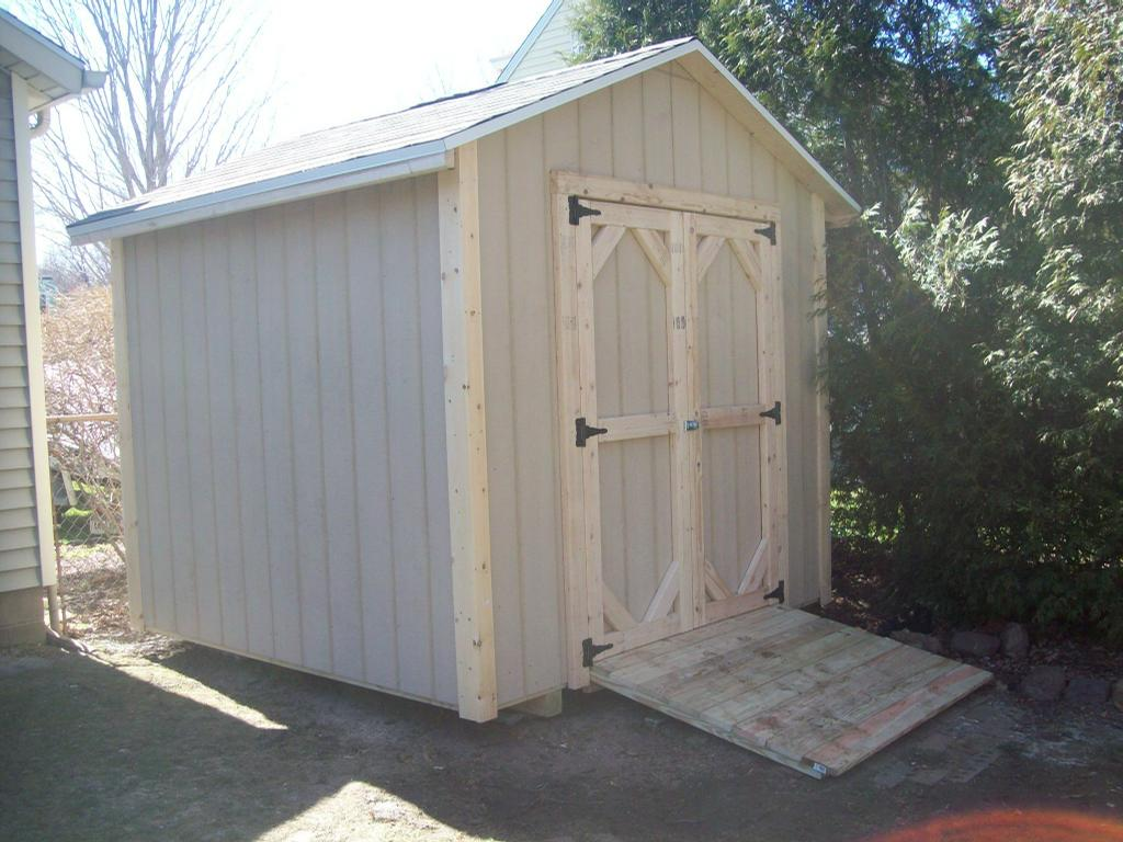 8x8 deluxe gable from sheds shacks and shelter in le roy for Garden shed 8x8