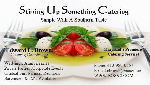 Catering Business Card from Stirring Up Something Catering in ...