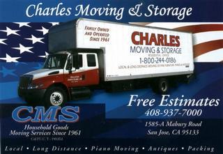 Charles Moving & Storage - San Jose, CA