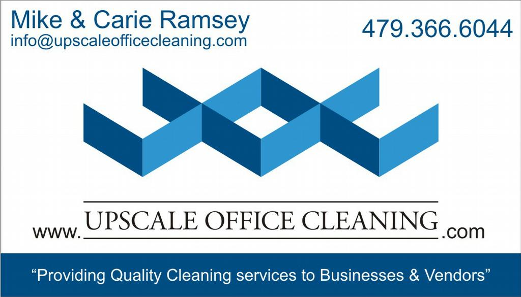Mike & Carie Ramsey Business Card from Upscale Office Cleaning in ...