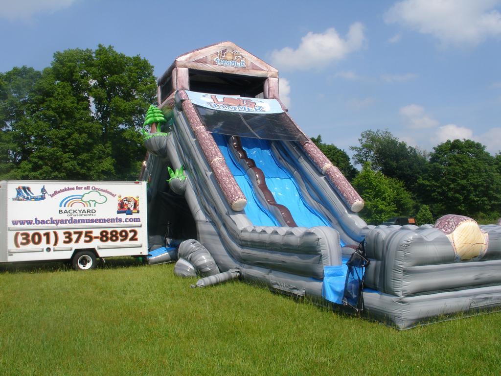 Nice Backyard Amusements Part - 1: Inflatable Slide
