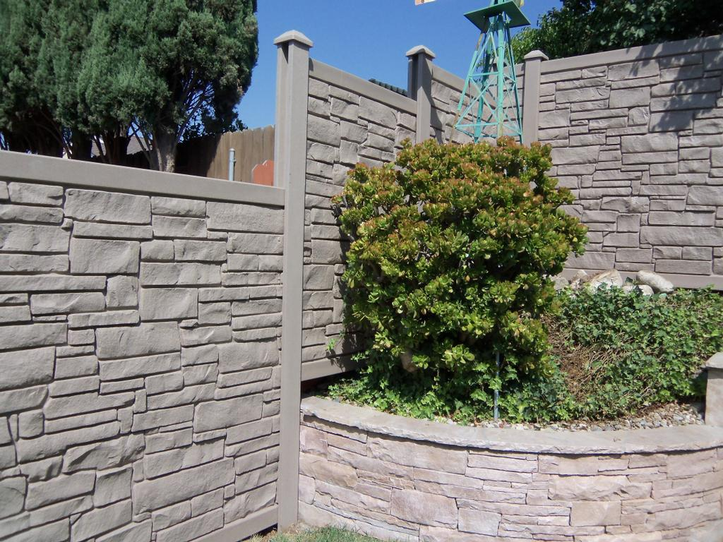 Naturaline Stone Fence From Vinyl Concepts In Newbury Park