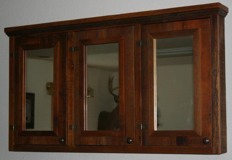 barn wood medicine cabinet triple mirror from vienna