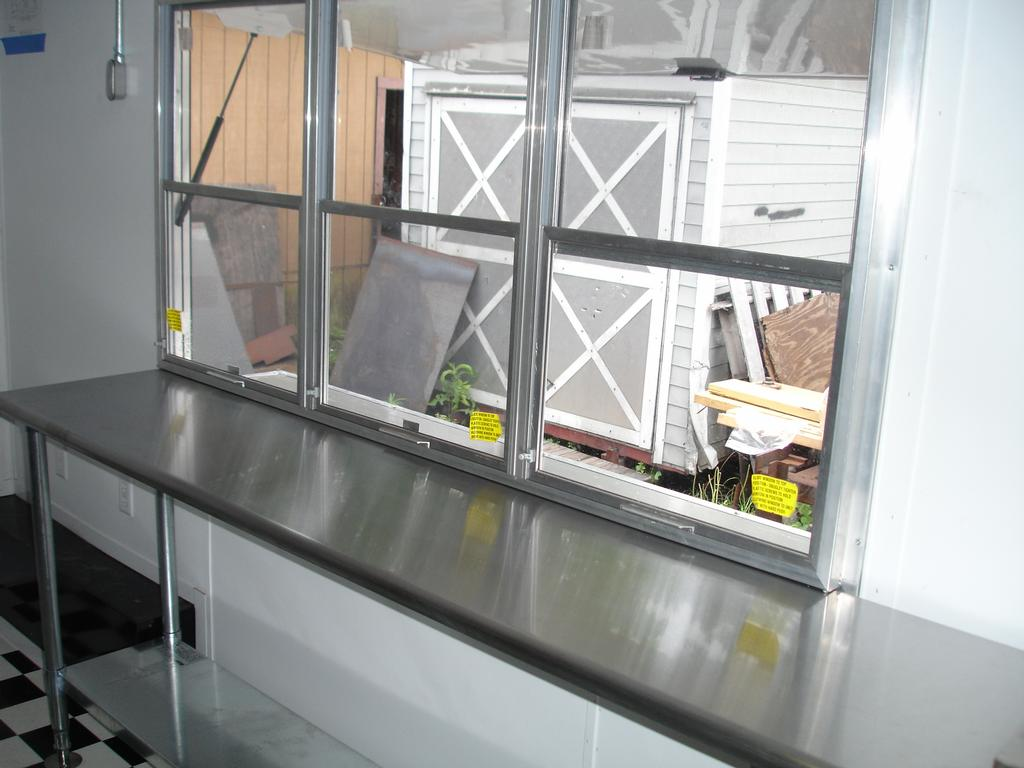 Concession trailer window from m r trailers in for Best r value windows