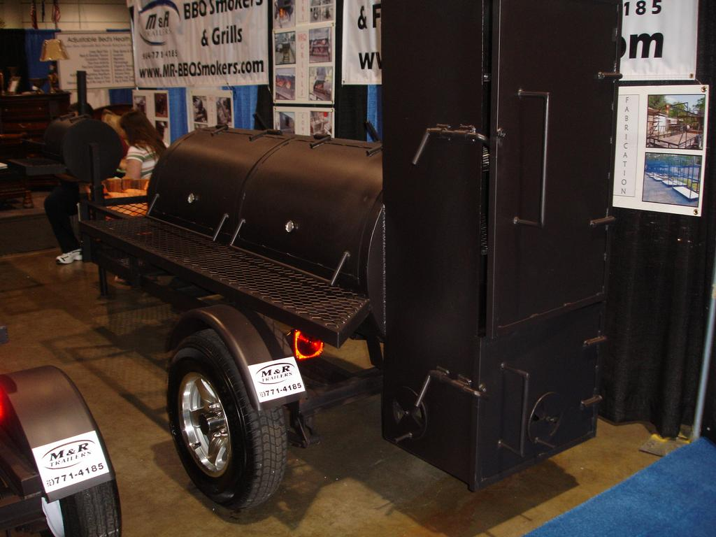 model 250 bbq smoker at home patio show from m r