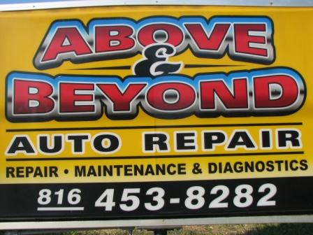 Auto Repair Liberty on Above And Beyond Auto Repair  Gladstone Mo 64118
