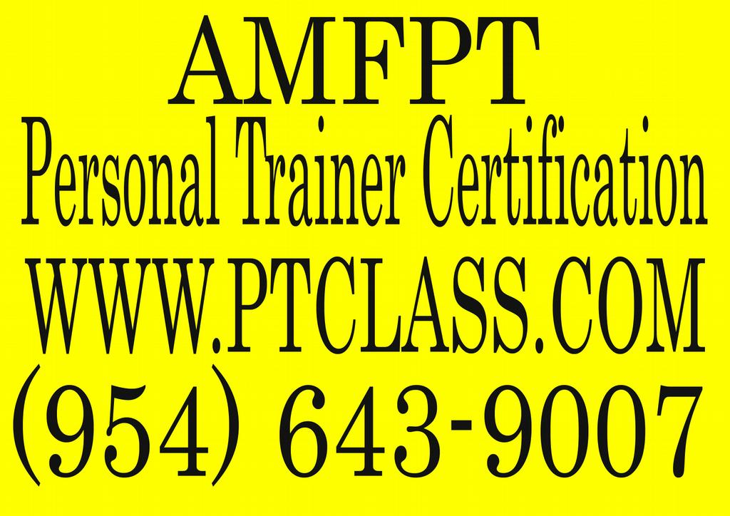 Pictures For Amfpt Personal Trainer Certification Florida Fl In