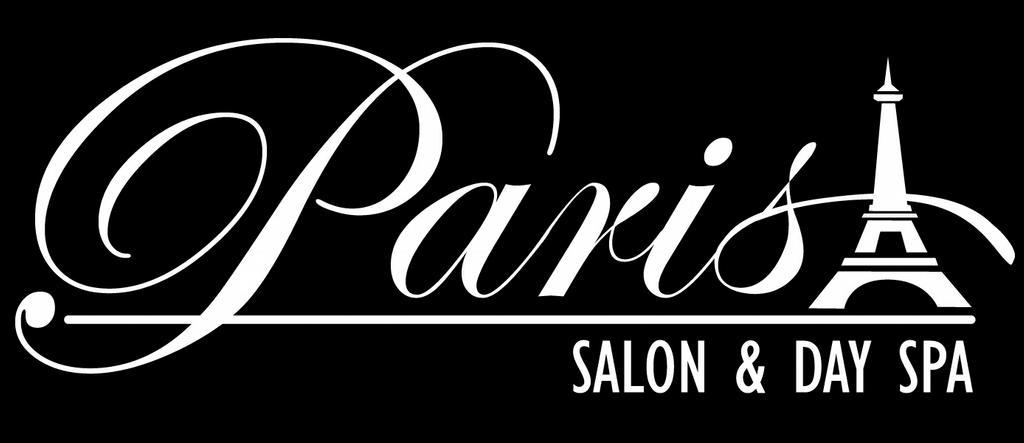 Paris logo white on black 3 from paris salon day spa in for Salon photo paris