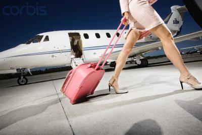 Pink Jet Landing From US Private Jets Inc In New York NY 10017