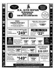 Auto Repair Flyers on Auto Repair Tires   Body  Albany Ny 12206