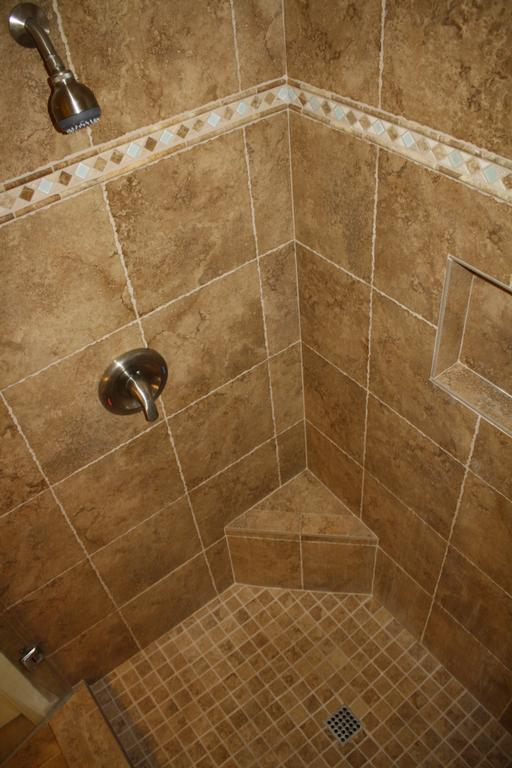 Shower Tile with Wood