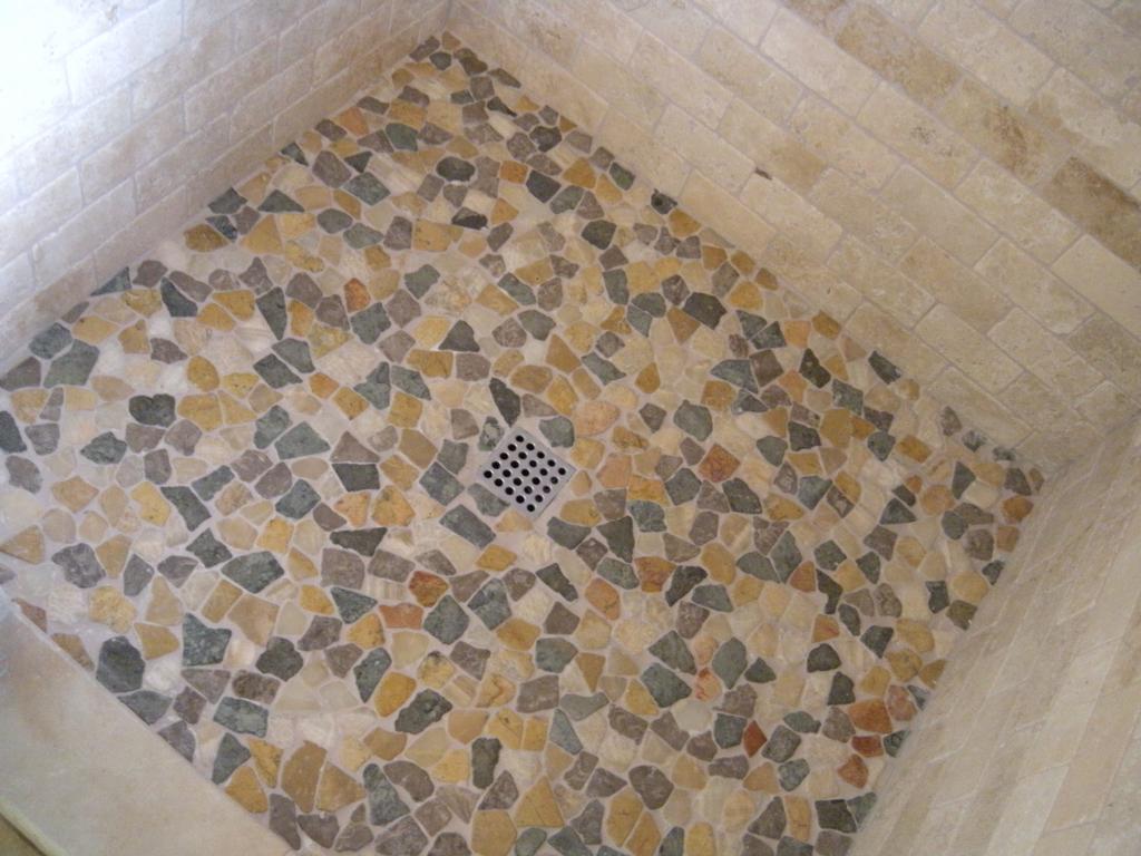 Pics Photos Pebble Tile Shower Floor